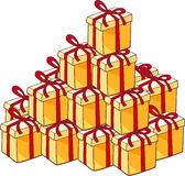 Heap of christmas presents Royalty Free Stock Photos