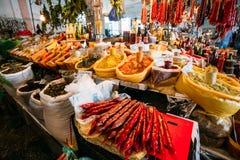 Heap Of Churchkhela, Georgian Candy Lying On Sale At Abundant Co royalty free stock photography