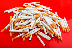 Heap of cigarettes Royalty Free Stock Photo