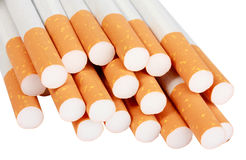 Heap of cigarettes with filter Royalty Free Stock Images