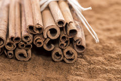 Heap of Cinnamon Royalty Free Stock Image