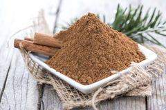 Heap of Cinnamon Stock Images