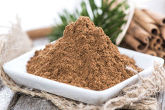 Heap of Cinnamon Royalty Free Stock Images