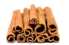 Heap of cinnamon sticks Stock Photos