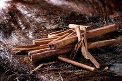 Heap of cinnamon sticks Stock Image