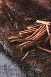 Heap of cinnamon sticks Royalty Free Stock Photography