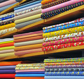 Heap of cloth fabric Stock Images