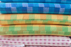 Heap of cloth fabric Stock Photos