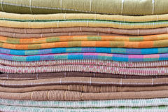 Heap of cloth fabric Stock Photo