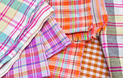 Heap of cloth fabrics, close up Royalty Free Stock Image