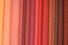 Heap of cloth fabrics in India. Stock Photo