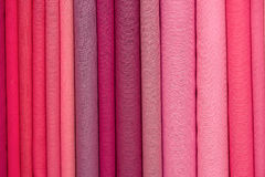 Heap of cloth fabrics in India. Royalty Free Stock Photos