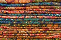 Heap of cloth fabrics Royalty Free Stock Image