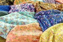Heap of cloth fabrics Stock Image