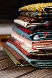 Heap of cloth fabrics Stock Photography