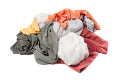 Heap of clothes Stock Image