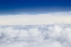 Heap clouds background. Stock Photos