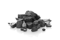 Heap of coal Royalty Free Stock Image