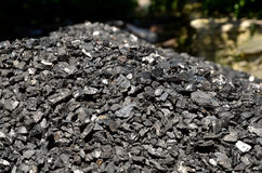 Heap of coal anthracite. Royalty Free Stock Images