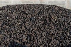 Heap of coal mineral. Mining stock photo