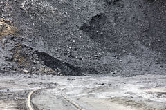 Heap of coal Stock Images