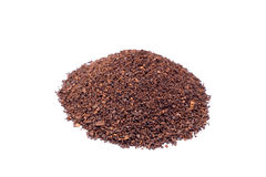 Heap of coarsely grinded coffee Stock Photography