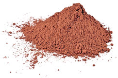 Heap of cocoa powder on a white Royalty Free Stock Image