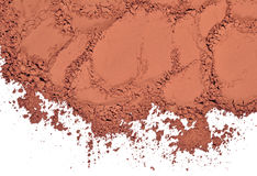 Heap of cocoa powder on a white Stock Image