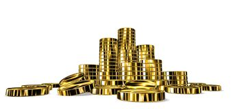 Heap of coined gold Stock Photo