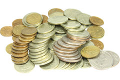 Heap of the coins Royalty Free Stock Image
