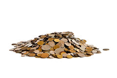 Heap of coins Stock Photos