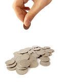 Heap of coins Stock Image