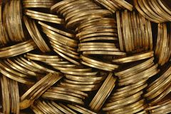 Heap of coins. Close up royalty free stock photo
