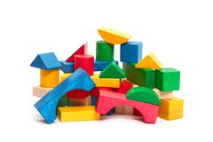 Heap of color blocks Royalty Free Stock Image