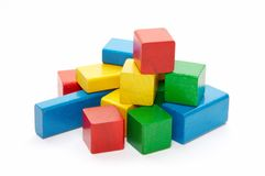 Heap of color bricks Royalty Free Stock Images
