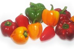 Heap of color Capsicum royalty free stock images