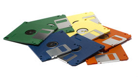 Heap of color floppy disks Stock Image