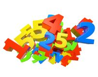 Heap of color number Stock Image
