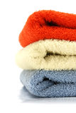 Heap of color towels Royalty Free Stock Photo