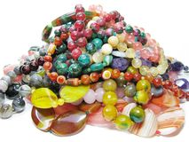 Heap of colored beads Stock Photo