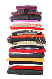 Heap of colored clothes Stock Photography