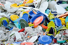 Heap of Colorful Broken Dishes Background Royalty Free Stock Images
