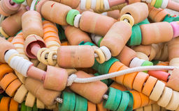 Heap of colorful buoy Stock Image