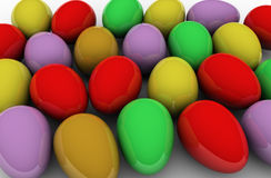 Heap of colorful Easter eggs Stock Photos