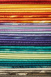 Heap of colorful fabric Royalty Free Stock Photos