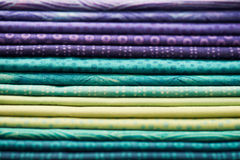 Heap of colorful fabric Royalty Free Stock Image