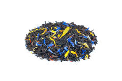 Heap of colorful loose exotic dream tea on white background Royalty Free Stock Photo