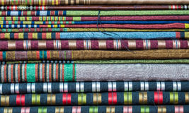 Heap of colorful materials Royalty Free Stock Image