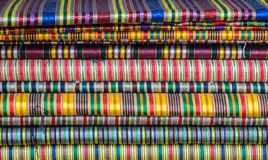 Heap of colorful materials Royalty Free Stock Photography