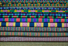 Heap of colorful materials Royalty Free Stock Images